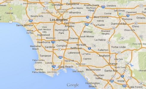mapa LA